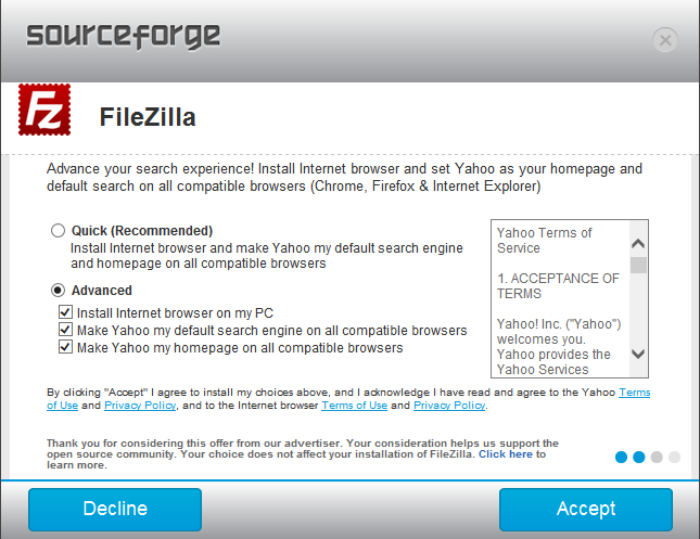 Filezilla misleading crap